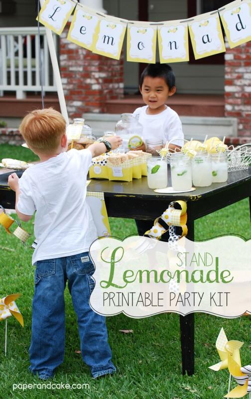 lemonade stand printable kit