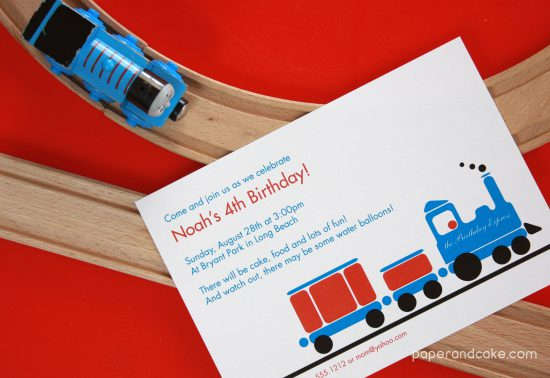 Train Printable Birthday Party Invitation and Decorations