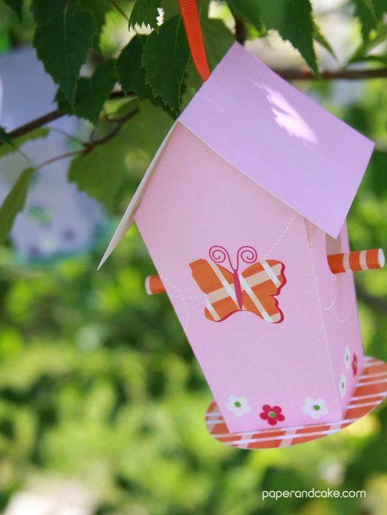 paper birdhouse free download diy