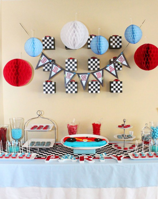 Race Car Printable Birthday party kit