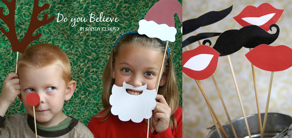 Printable Holiday Photo booth props