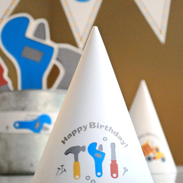 Under Construction Printable Birthday Party Paper And