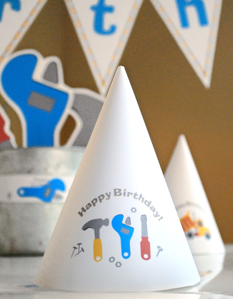 Under Construction Printable Birthday Party - Paper and Cake Paper and ...