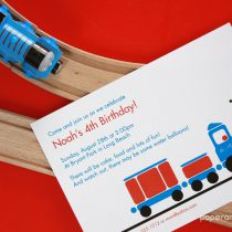 Train Printable Birthday Party