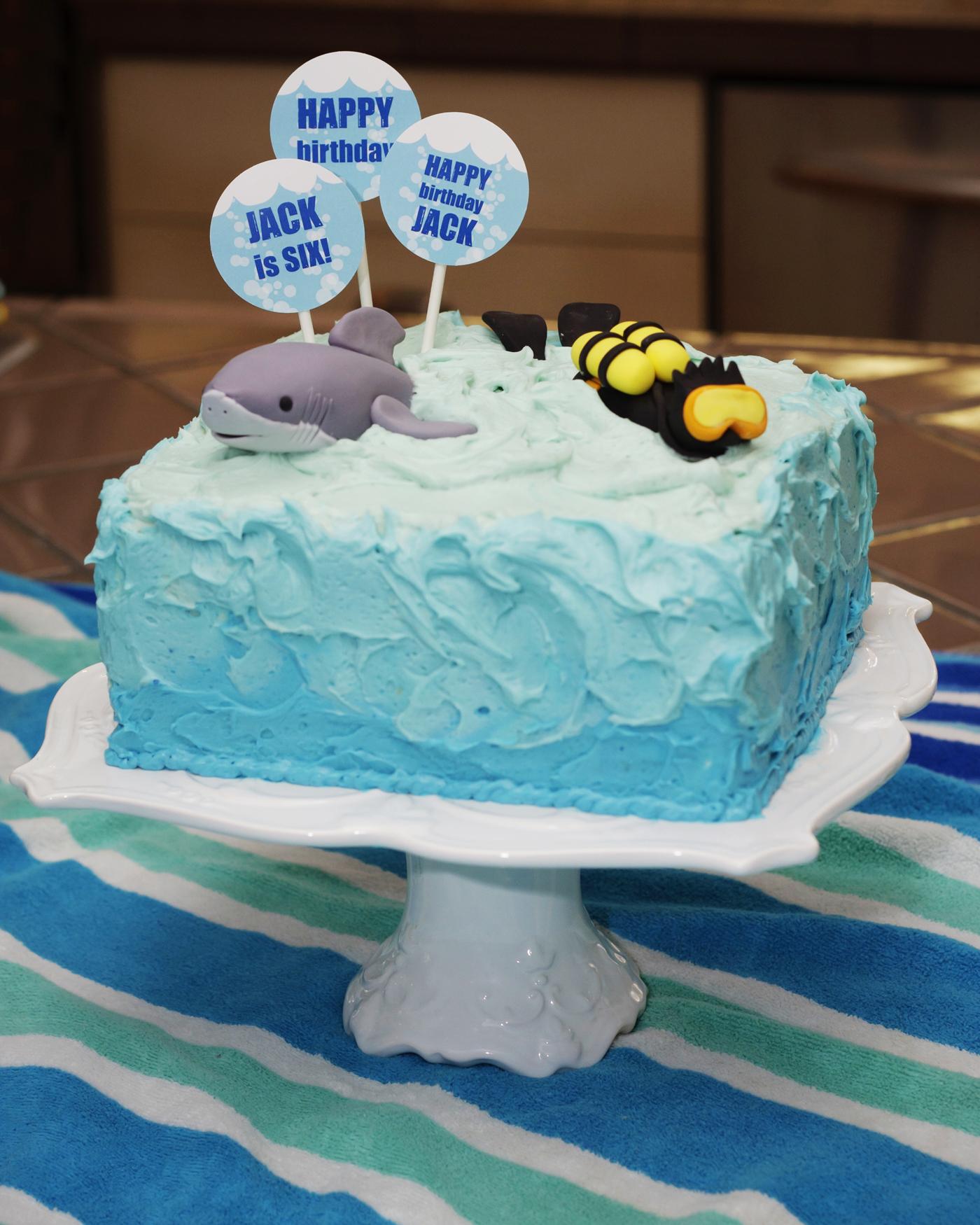 shark and scuba printable birthday party