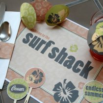 Retro Hawaiian Printable Party and Tablescape