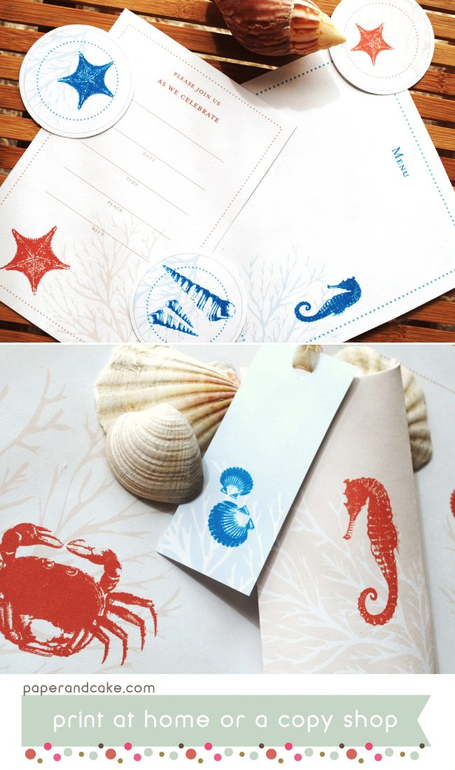 Ocean Life Printable Party and Tablescape