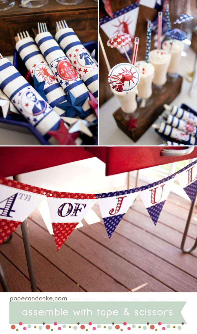 american icons patriotic printable party