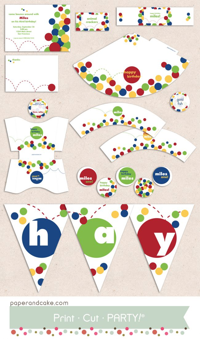 bouncy ball printable party