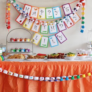 Rainbow of Bugs Printable Birthday Party