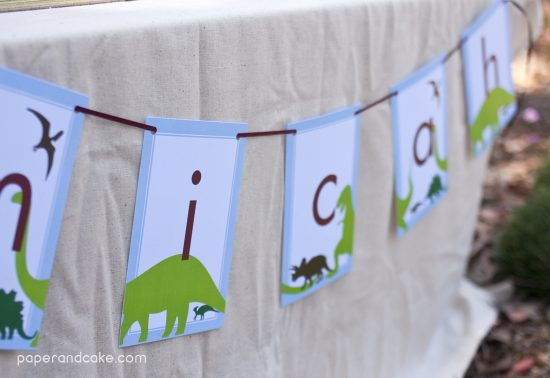 Dinosaur Dig Birthday PRINTABLE Party Collection - You Customize EDITABLE TEXT Instant Download
