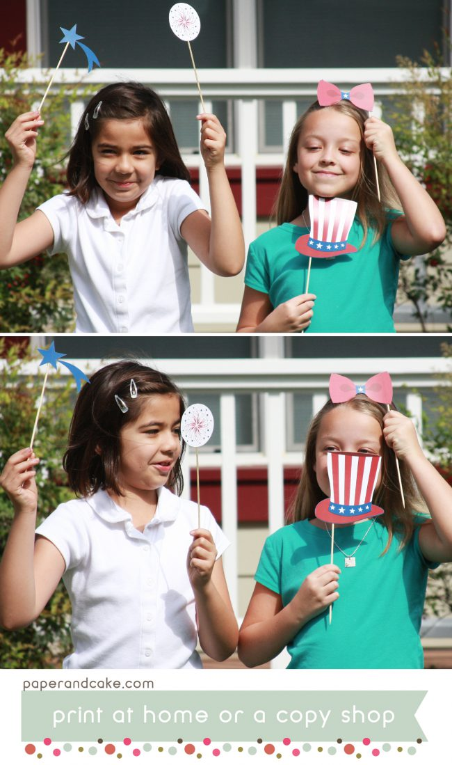Patriotic printable photo booth props