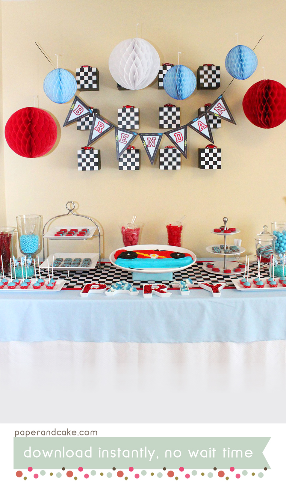 graphic relating to Printable Cake Paper referred to as Race Auto Printable Birthday Celebration