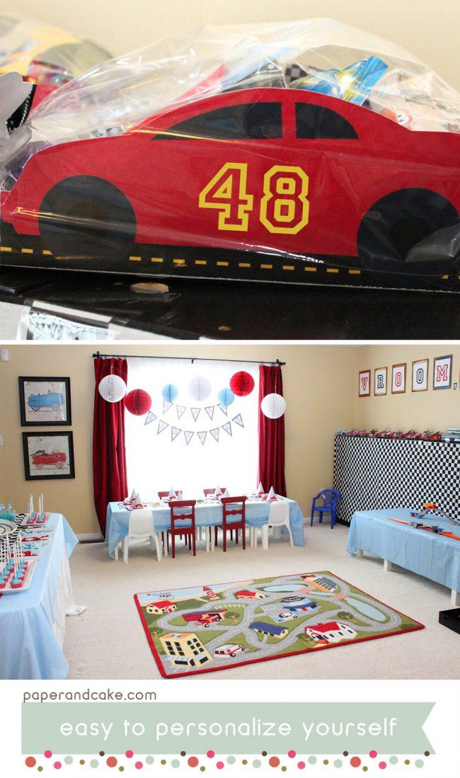 Race Car Printable Birthday Party