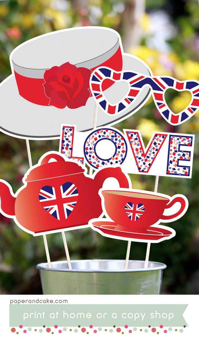 Royal Wedding Printable Photo Booth Props