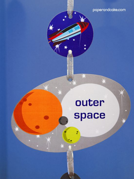 space printable birthday party decorations