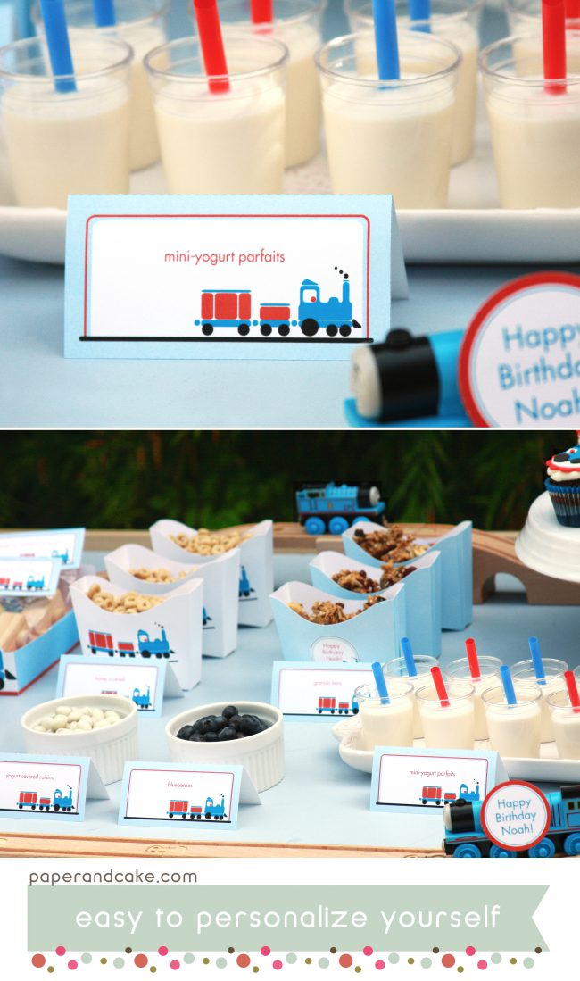 Train Printable Birthday Party