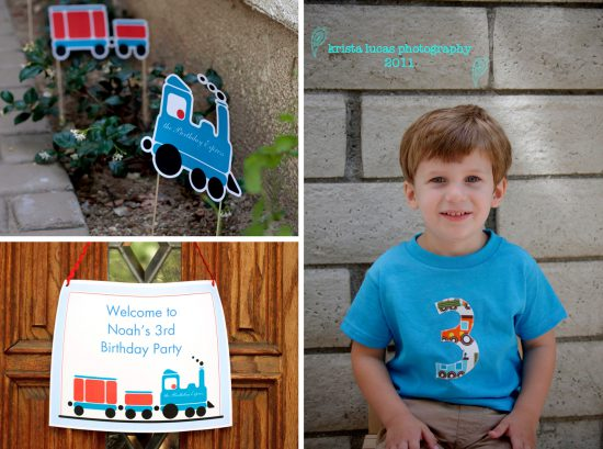 Printable Train Birthday Party Decorations