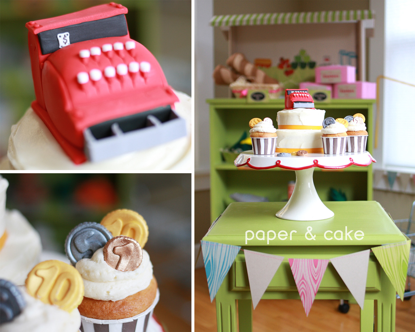 Cake With Fondant Storage : Grocery Store Printable Birthday Party & Playdate - Paper ...