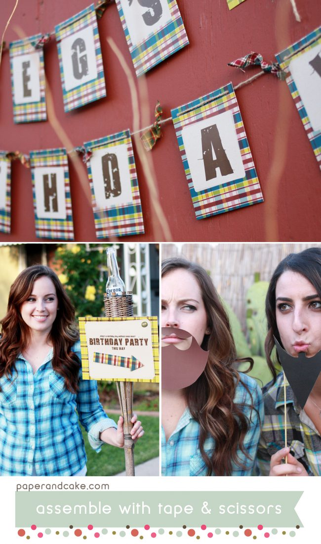 Plaid Flannel Beer Tasting Printable Party