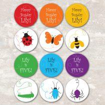 Rainbow of Bugs Cupcake Picks