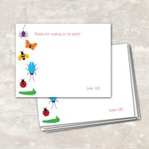 Rainbow of Bugs Thank You Notes