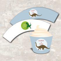 Dinosaur Dig Cupcake Wraps