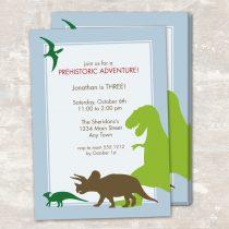 Dinosaur Dig Invitations