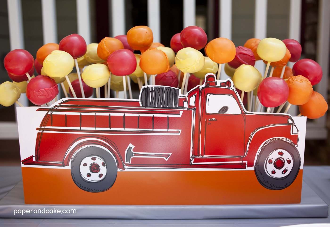 Fire Truck Printable Birthday Party Paper And Cake Paper