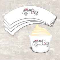 Fire Truck Cupcake Wraps