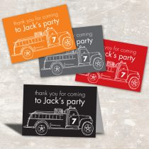 Fire Truck Favor Bag Toppers