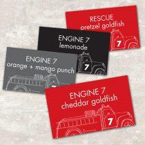 Fire Truck Jar Labels