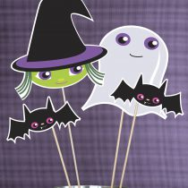 Trick or Treat Halloween Printable Photo Booth Props