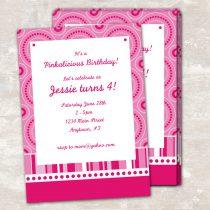Pink Polka Dot Invitations