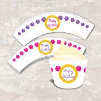 Princess Cupcake Wraps