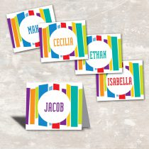 Mod Stripe Party Food Labels