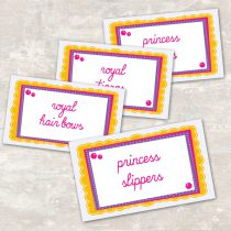 Princess Jar Labels