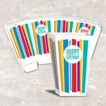 Mod Stripe Popcorn Boxes