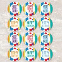 Mod Stripe Cupcake Picks