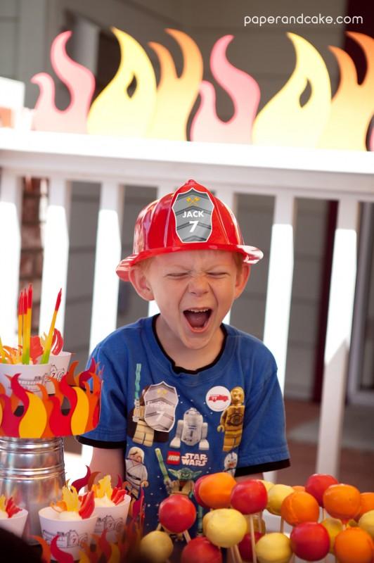 p u0026c real life party  jack u0026 39 s firetruck birthday