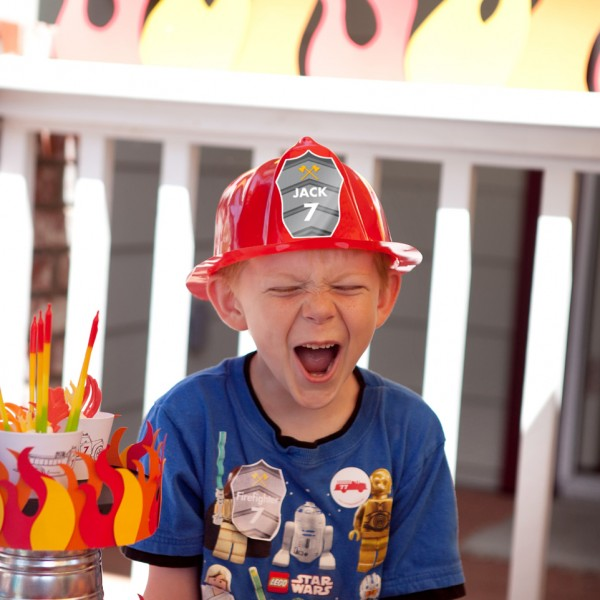 P Amp C Real Life Party Jack S Firetruck Birthday Paper