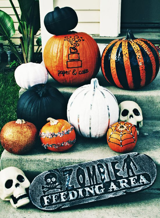 DIY No Carve Pumpkin Glamour - Paper and Cake Paper and Cake - photo#26