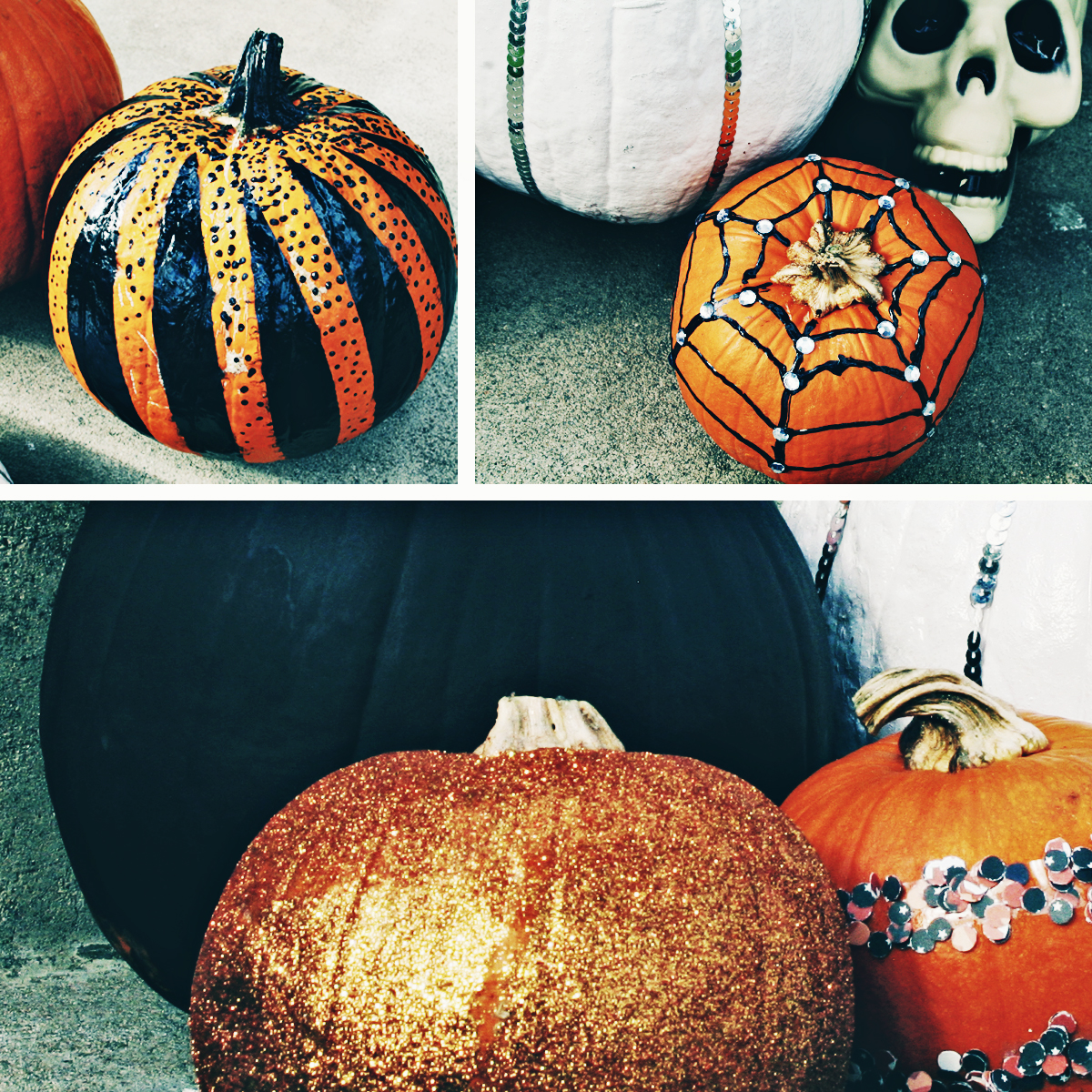 DIY No Carve Pumpkin Glamour - Paper and Cake Paper and Cake - photo#11