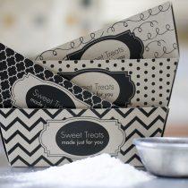 Sweet Treats Baked Goods Printable Gift Giving Set (Black)