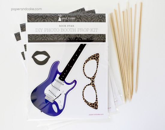 rock star photo booth prop kit
