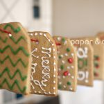 gift tag cookie garland