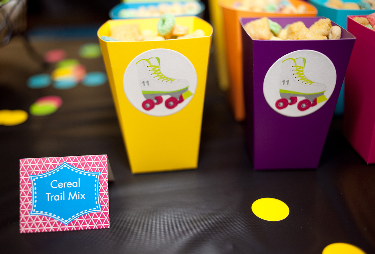 Roller skating party favors -  Neon Roller Skate Printable Birthday Party Supplies And Decorations