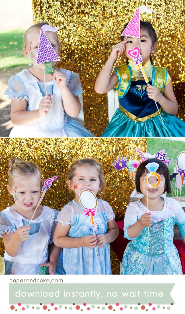 princess printable photo booth props