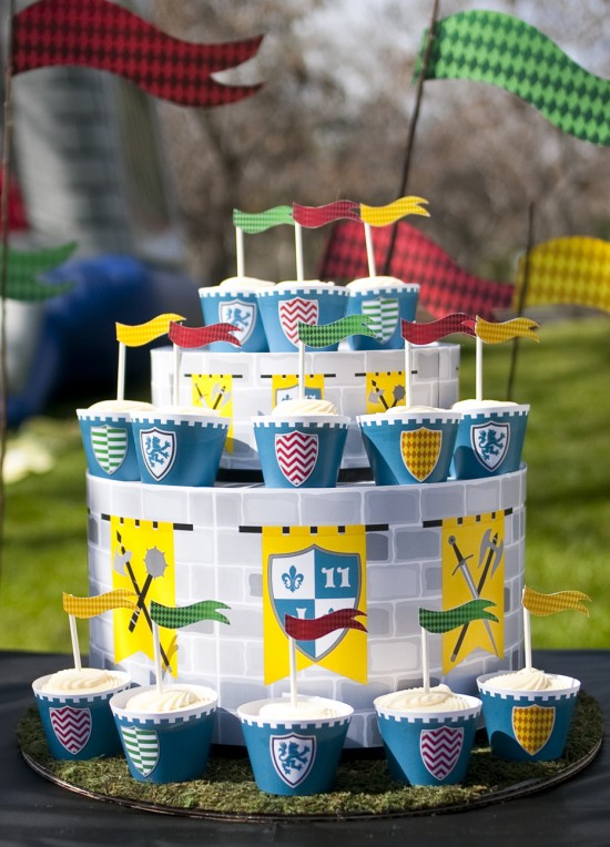 Medieval Knights Castle Printable Birthday Party - Paper ...