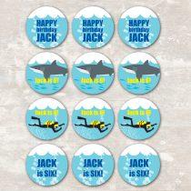 Shark and Scuba Cupcake Picks